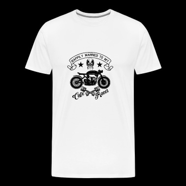 Happily Married To My Cafe Racer - Mannen Premium T-shirt