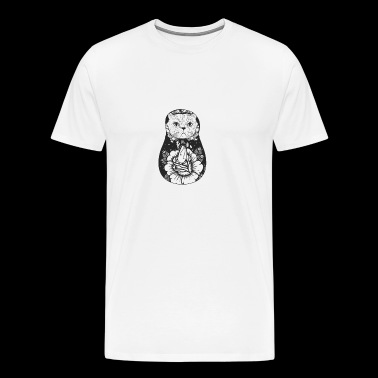 Matryoshka Cat - Premium T-skjorte for menn