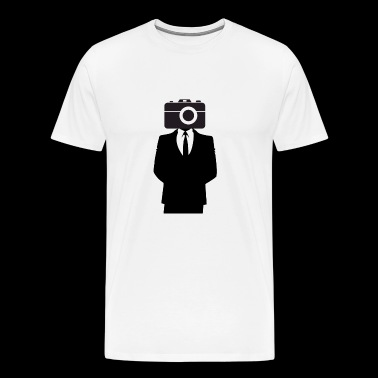 Camera on the head photography lovers - Men's Premium T-Shirt