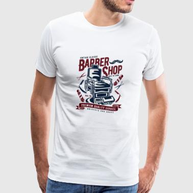 Vintage Barbershop - Men's Premium T-Shirt