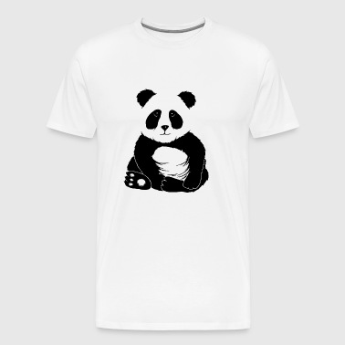 little cool chilled panda panda bear gift - Men's Premium T-Shirt