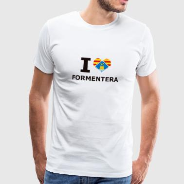 I LOVE FORMENTERA FLAG - Men's Premium T-Shirt