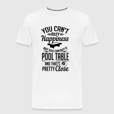 Billiards: Happiness = pool tables - Koszulka męska Premium