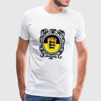 Baden Württemberg coat of arms Landesflagge - Men's Premium T-Shirt