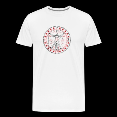 Vitruvian Alchemist Wise Man - Men's Premium T-Shirt