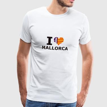 I LOVE MALLORCA FLAG - Men's Premium T-Shirt