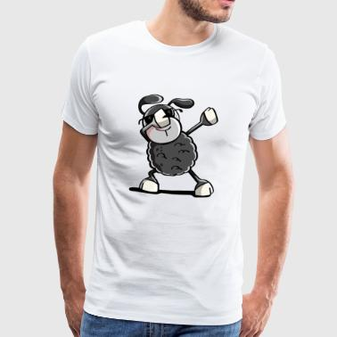 Trendig Black Sheep Dab Dance - badda Djur - Premium-T-shirt herr