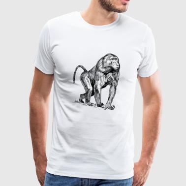 Monkey baboon - Men's Premium T-Shirt