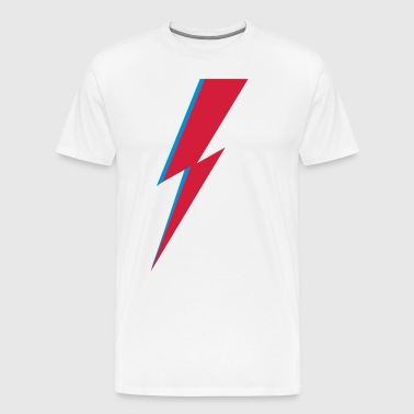 flash, music, rebel, Bowie, hero, space, blackstar - Men's Premium T-Shirt
