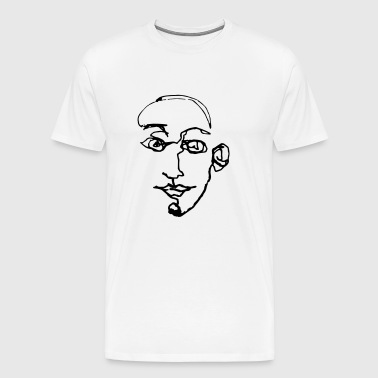 Graphic men face - Men's Premium T-Shirt