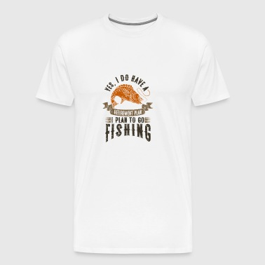 As a pensioner I go fishing !!! - Men's Premium T-Shirt
