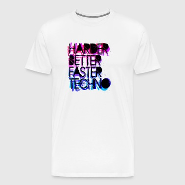 Harder Better Techno - Männer Premium T-Shirt