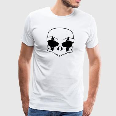 clown schedel Black - Mannen Premium T-shirt