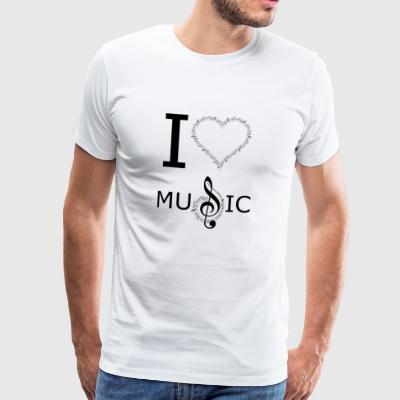 I Love Music Design - Männer Premium T-Shirt