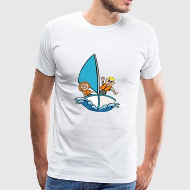 sailboat - Men's Premium T-Shirt