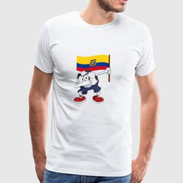 Ecuador Dabbing football - Men's Premium T-Shirt