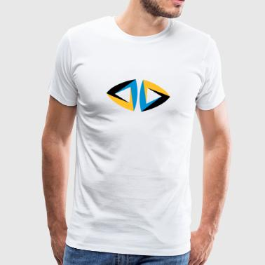 impossible figure Escher triangle geometry hipster - Men's Premium T-Shirt