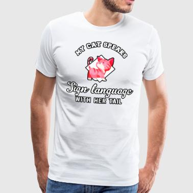 Cat Language - Männer Premium T-Shirt
