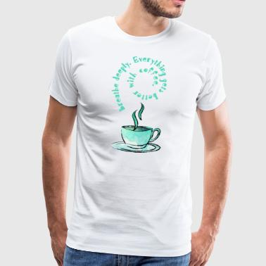 Coffee Cup - Premium T-skjorte for menn