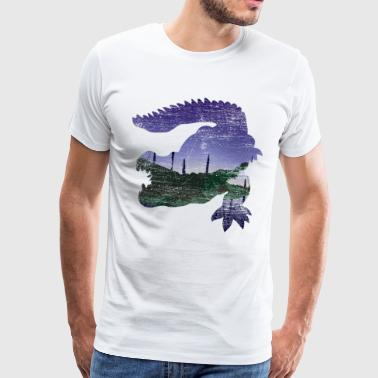 Alligator Crocodile Danger Animal Dino Dinosaur - Mannen Premium T-shirt
