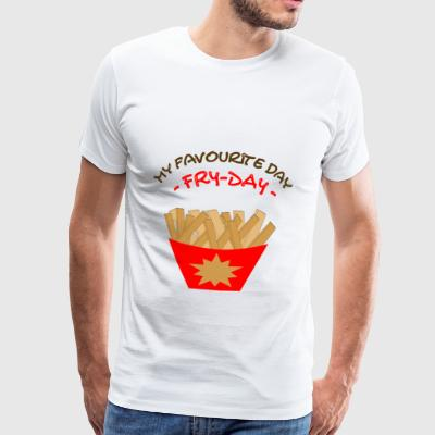 Fry Day Freitag Fritten Pommes Tag Chips Fries - Männer Premium T-Shirt