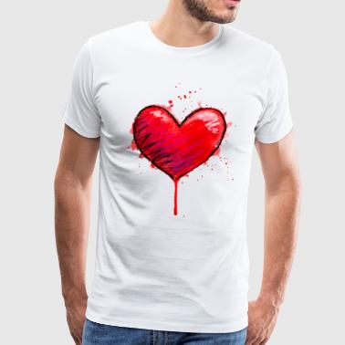 Messy Heart - Men's Premium T-Shirt
