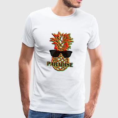 Pineapple Paradise white - Men's Premium T-Shirt