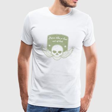 Drive like a bat out of bright olive - Men's Premium T-Shirt