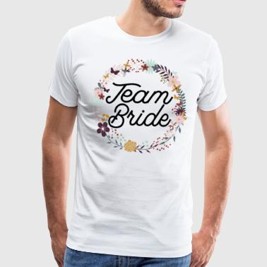 Team Bride Purple Floral Wreath - Premium-T-shirt herr