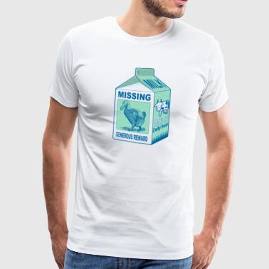 melkekartong Missing dodo - Premium T-skjorte for menn