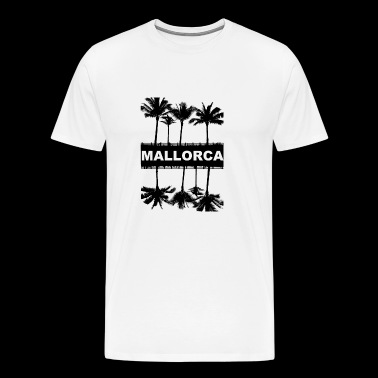 Mallorca with palm trees - Men's Premium T-Shirt