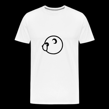 panda head sideways, cute t-shirt - Men's Premium T-Shirt