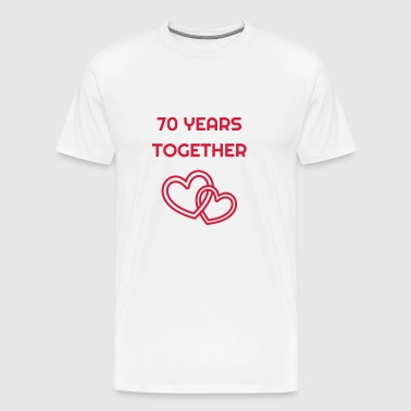 70 - Birthday Wedding - Marriage - Love - Mannen Premium T-shirt