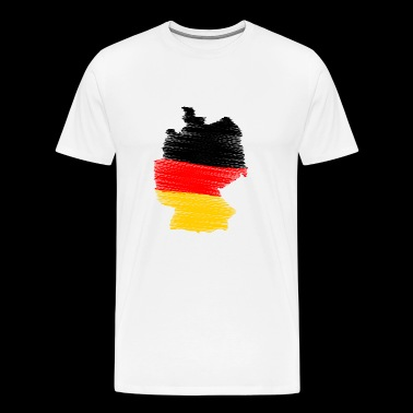 Germany hatched - Men's Premium T-Shirt