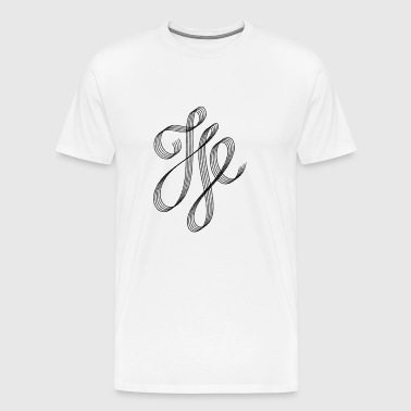 Curved Calligraphic Swash - Men's Premium T-Shirt