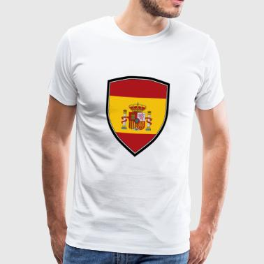SPAIN FLAG SHIELD - Men's Premium T-Shirt