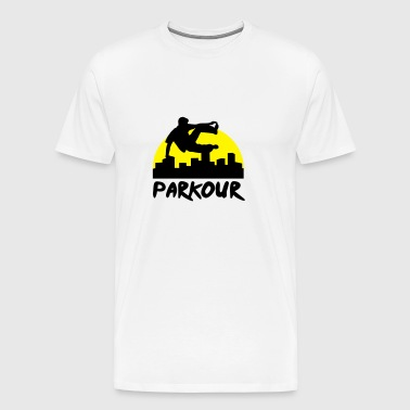 Free running in the city, parkour - Premium-T-shirt herr