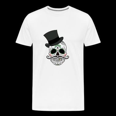 Skull with cylinder - Men's Premium T-Shirt