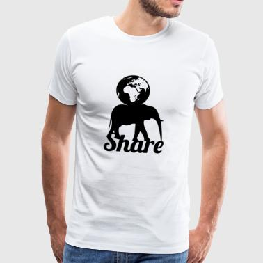 share blak - Men's Premium T-Shirt