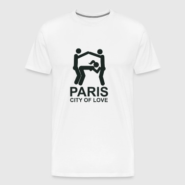 Paris City of Love (stad van de liefde) - Mannen Premium T-shirt