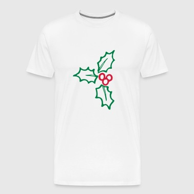 Holly - Maretak - Kerst - Decoratie 2farbig - Mannen Premium T-shirt