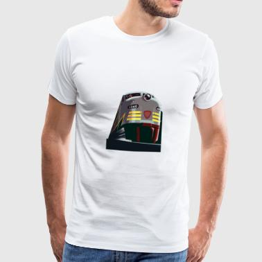 Train from the Rocky Mountains - Men's Premium T-Shirt