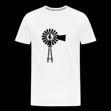 windmill windmuehle wind turbine windrad20 - Männer Premium T-Shirt