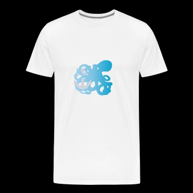 Octopus verloop - Mannen Premium T-shirt