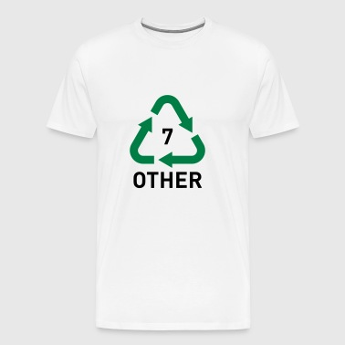 Recyclable Resin Identification Code 7 - Other. - Men's Premium T-Shirt