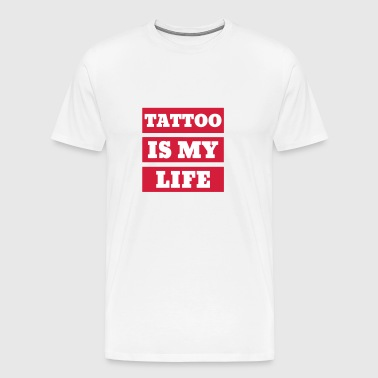 Tatouage / Tatoué / Motard / Piercing / Moto - T-shirt Premium Homme
