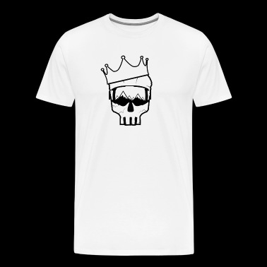 Skull Crown Mountain - Herre premium T-shirt