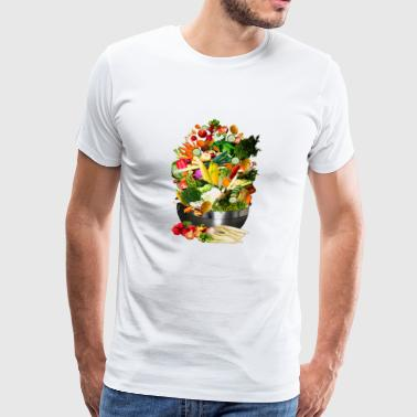 knoflook knoflook veggie veggie vegetables3 - Mannen Premium T-shirt