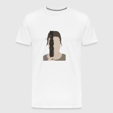 Girl with Saber - Men's Premium T-Shirt