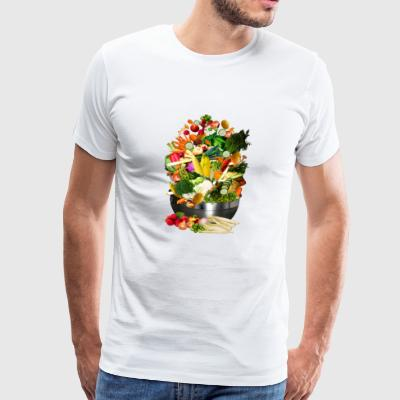 knoblauch garlic veggie gemuese vegetables3 - Männer Premium T-Shirt